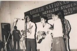 Program of the Akhil Bharat Nepal Ekata Samaj, Gorakhpur University, 1983 [2039]. Khusiram Pakhrin, Shova Pakhrin, Homa Pakhrin
