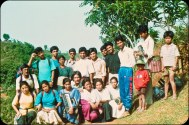 "Samana Cultural Family in Gorkha, 1996, exact date unknown, but after the ""People's War"" had been announced."