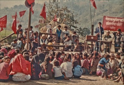 Dhading, 1992. Sign: Nepal Communist Party, Southern Area Committee.