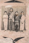 Pakhrin family, 1970s. Khusiram, mother Sukantali, sister Bharati, unnamed neighbor girl.
