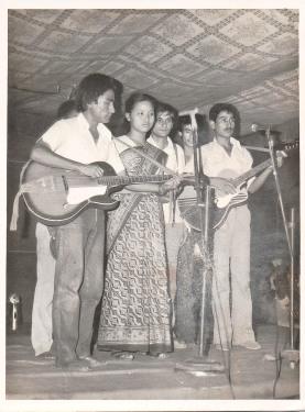 Chitwan Cultural Family, Gorakhpur, 1992. Khusiram Pakhrin, Anita Gurung, Tara Bhujel