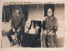 Father and mother of Khusiram Pakhrin, 1970s