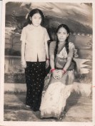 Khusiram Pakhrin's now-wife and older sister, 1970s