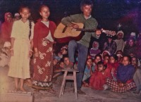 Pakhrin Family performing in Chitwan, 1980s