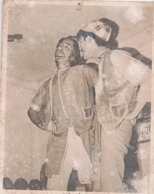 Khusiram Pakhrin and Bal Bir Rana, comedy routine, 1976.