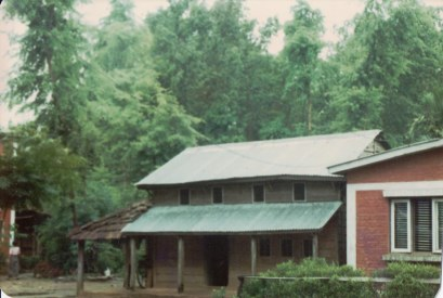 Khusiram Pakhrin's house in Chitwan, as it stood from the 1980s through 2008.