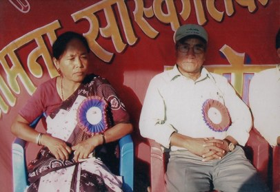 Homa Pakhrin and Khusiram Pakhrin, at a Samana Cultural Family program right after the CPN-Maoist entered into the peace process in 2007.