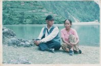 Khusiram Pakhrin and Homa Pakhrin in Rukum, Syargo Daha, sometime well into the war in the 2000s (before 2006).