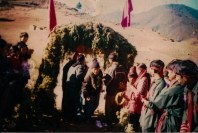 Samana is welcomed at Jajarkot, 2002.