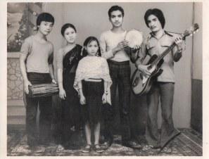 Chitwan Cultural Family in Gorakhpur, c. 1984. Gita Pakhrin, center, age 7.