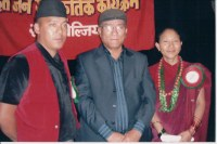 Khusiram Pakhrin with Communist Party members in Belgium while visiting in 2009.
