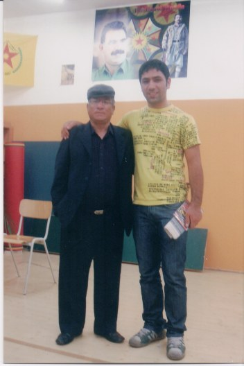 Khusiram Pakhrin with Kurdish revolutionary, Austria, 2009.